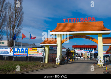 Gates of SAPA the Asia Trade Centre in Libus district in outskirts of Prague Czech Republic Europe - Stock Photo