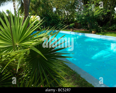 Ernest Hemingway House in Key West, the swimming pool - Stock Photo