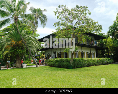 Ernest Hemingway House in Key West,exterior view - Stock Photo