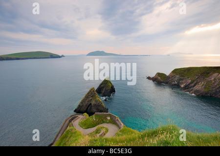 pathway leading to Dunquin Pier on Dingle Peninsula, Co.Kerry, Ireland - Stock Photo