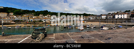 Quayside at the fishing village of Mousehole  in Cornwall - Stock Photo