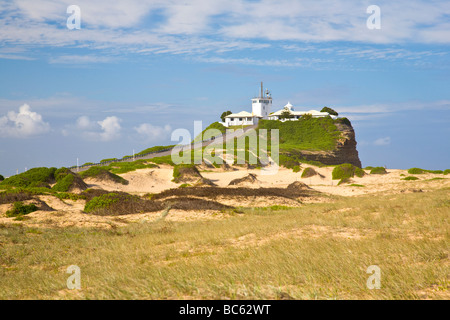 Nobbys Head Lighthouse Newcastle New South Wales Australia - Stock Photo