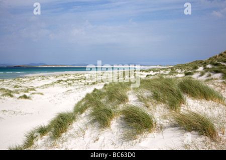 Sand dunes Traigh Iar, North Uist, Scotland - Stock Photo