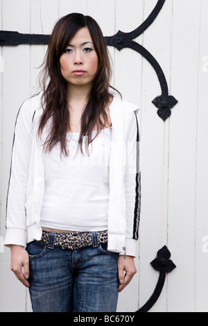 A portrait of a young chinese woman - Stock Photo