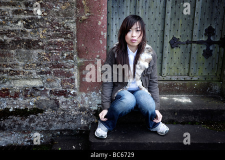 Portrait of a young Chinese woman - Stock Photo