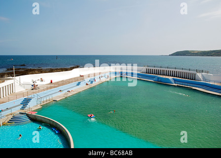 The Lido Open Air Swimming Pool At Tynemouth In North Tyneside Has Stock Photo Royalty Free