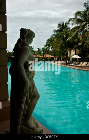 Miami Coral Gables Biltmore Hotel restored renovated to former glory including massive swimming pool - Stock Photo
