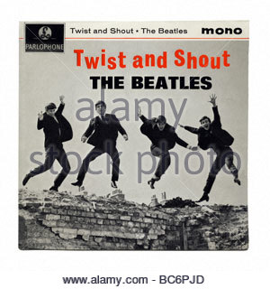 'Twist and Shout' by The Beatles, an EP record first released in 1963 - Stock Photo