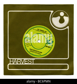 'Out Demons Out' single by The Edgar Broughton Band on the Harvest record label first released in 1970 - Stock Photo