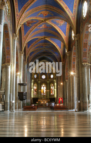 Rome - interior of Santa Maria sopra minerva church - Stock Photo