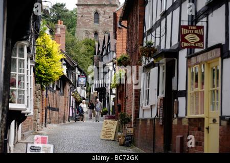 Church Lane in Ledbury, Gloucestershire, UK