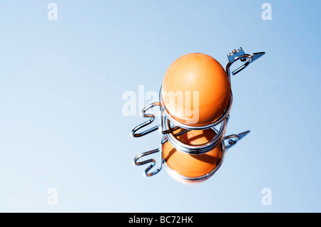 egg in egg cup - Stock Photo