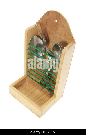 Cutlery in Utensil Holder - Stock Photo