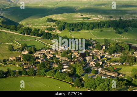 The village of Kettlewell, Wharfedale, Yorkshire Dales ...