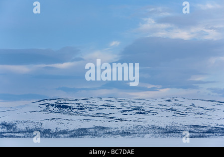 Fells in the Swedish side of the Lake Kilpisjärvi, Finland - Stock Photo