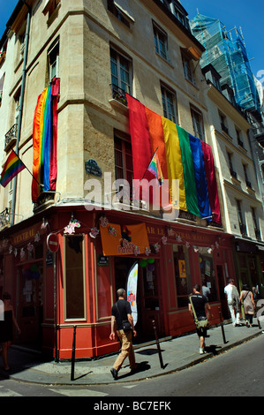 Bar le central in the marais district paris france stock photo 31972082 alamy - Bar le central ...