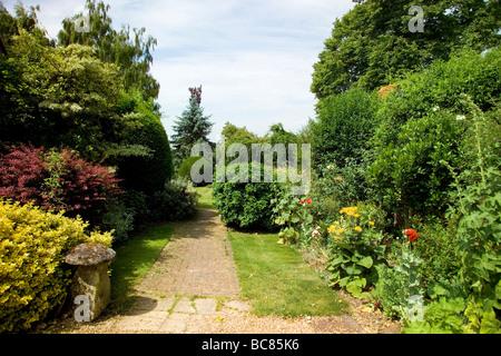 Cottage Garden Border - Stock Photo