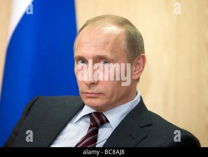Vladimir Vladimirovich Putin Prime Minister of Russia Moscow Russia - Stock Photo