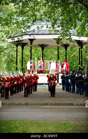 memorial service at the Combined Cavalry Old Comrades Association Parade in Hyde Park London - Stock Photo