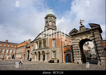 The Bedford Tower in the Upper Yard of the Dublin Castle Republic of Ireland - Stock Photo