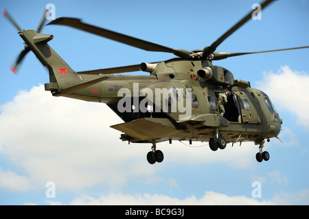British Merlin helicopter on exercise - Stock Photo
