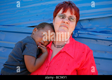 Painet jj1786 woman people child person face kid namibia female people child person face kid namibia female standing - Stock Photo