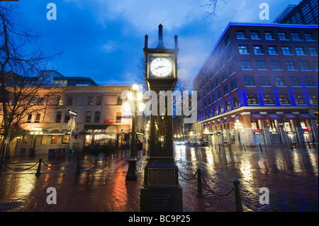 The Steam Clock on Water Street in Gastown Vancouver British Columbia Canada - Stock Photo