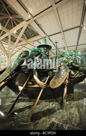 The Spirit of Haida Gwaii Jade Canoe sculpture by Bill Reid at Vancouver International Airport Vancouver British - Stock Photo