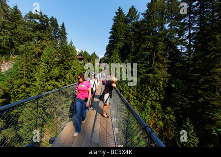 Lynn Canyon Capilano Suspension Bridge Vancouver Canada North America - Stock Photo