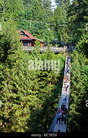 Lynn Canyon Capilano Suspension Bridge Post office Vancouver Canada North America - Stock Photo