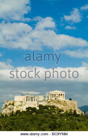 The Parthenon on the Acropolis in Athens, Greece. - Stock Photo