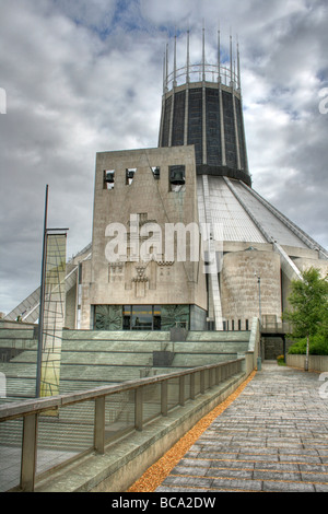 HDR Of The Liverpool Metropolitan Cathedral of Christ the King, Merseyside, UK - Stock Photo