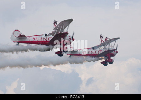 Team Guinot Wing Walkers at Biggin Hill - Stock Photo
