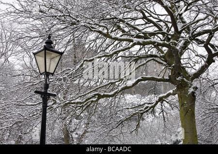 Snow in Edinburgh, Scotland, UK. - Stock Photo