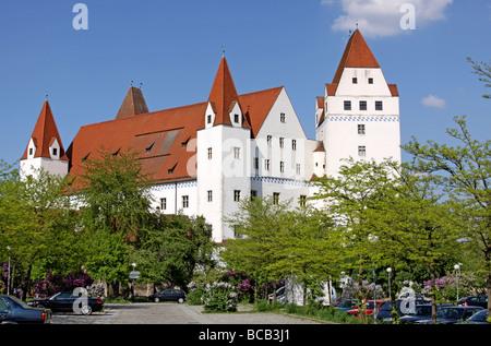 Neues Schloss, New Castle, Ingolstadt, Bayern, Bavaria, Germany - Stock Photo
