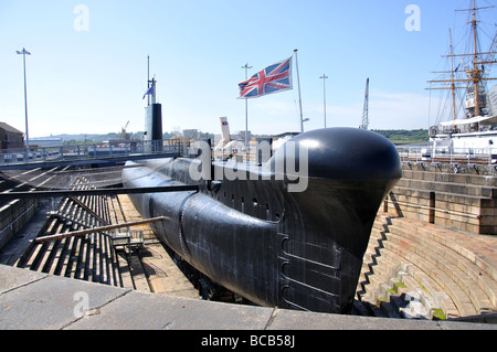 HM Submarine Ocelot, Chatham Historic Dockyard, Chatham, Kent, England, United Kingdom - Stock Photo