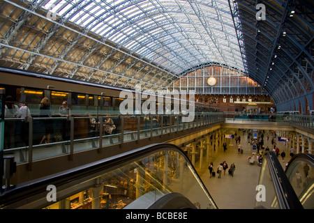 St Pancras Station London UK - Stock Photo