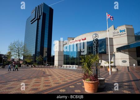 Symphony Hall ICC Hyatt Hotel Broad Street Birmingham England UK United Kingdom GB Great Britain British Isles Europe - Stock Photo