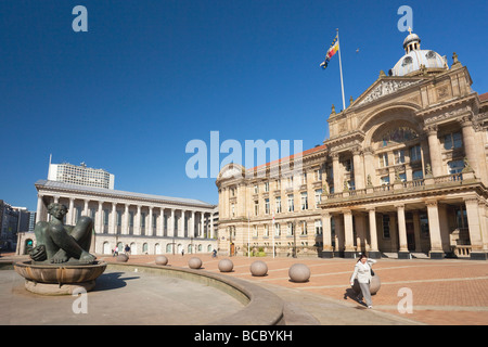 Town Hall Council Offices Chamberlain Square Birmingham West Midlands England UK United Kingdom GB Great Britain - Stock Photo