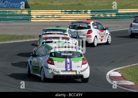 Phil House, ELF Renault Clio Cup is the UK's premier, Croft Circuit, 2009. - Stock Photo