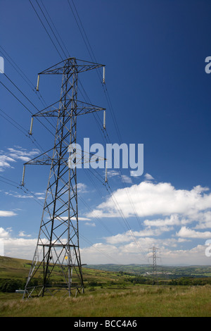 high voltage electricity pylon county londonderry derry northern ireland uk - Stock Photo