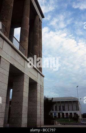 Museal buildings in Piazza Guglielmo Marconi in Rome - Stock Photo