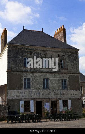 Old public house / bar, in a village near Nantes, Loire, Brittany, France, Europe, EU. - Stock Photo