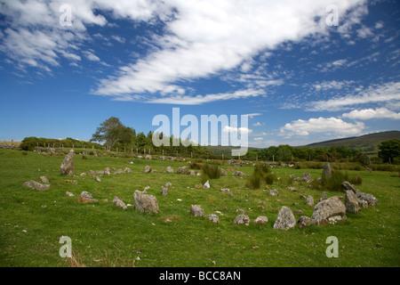 Aughlish stone circles county derry londonderry northern ireland uk - Stock Photo
