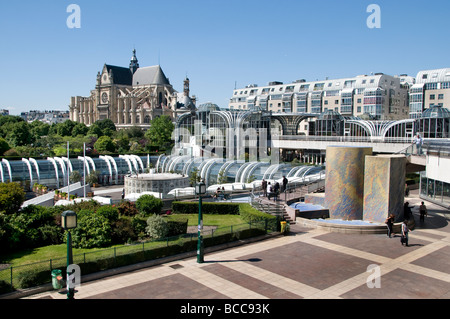 Paris France French Forum des Halles Shopping Mall - Stock Photo