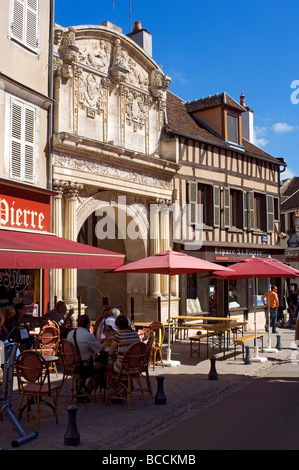 France, Yonne, Auxerre, Saint Pierre church Renaissance portal - Stock Photo