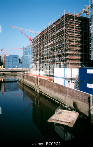 July 2, 2009 - View from Shanghaibrücke of the future head office building of Germanischer Lloyd in Hamburg's Hafencity. - Stock Photo