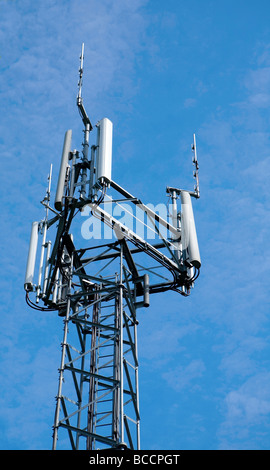 Mobile phone mast .West Sussex. UK - Stock Photo