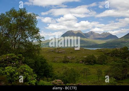 Beinn Alligin in Torridon, Scotland - Stock Photo