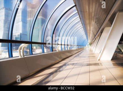 Modern bridge interior Wide angle view - Stock Photo